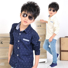 Рубашки, якоря мальчиков, , классический печати детская стиль хлопок детей мода