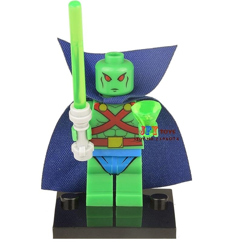 Single Sale  Superhero Marvel Martian Manhunter Building Blocks Model Bricks Toys For Children Brinquedos Menino