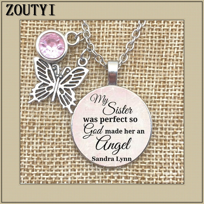2018Memorial Necklace, My Sister Lost Her Commemorative -2515