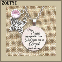 2018/Memorial necklace, my sister lost her commemorative charm, her sister's loss is perfect, so God made her an angel god is in your keychain charm pendant gift for her faithful charm key chain god is in her heart she will not poetry charm