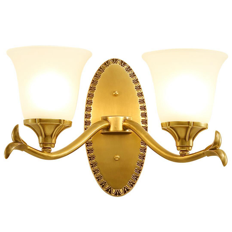 New Arrivsal wall lights copper glass lamp shades E27 holder 3W led bulb bedside reading wall lamp home decorate designer source