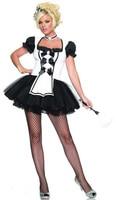 Negro Blanco de Encaje Esponjoso Cosplay de Mucama Francesa de Halloween Lolita Fancy Dirndl Para Mujeres Adultos traje de la Criada Siervo Uniforme