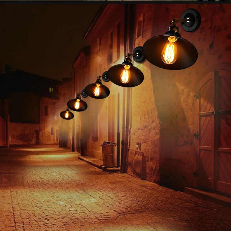 Lyfs европейский античный Железный маленький настенный светильник деревенский индивидуальный креативный настенный светильник Ретро железное освещение черный/белый