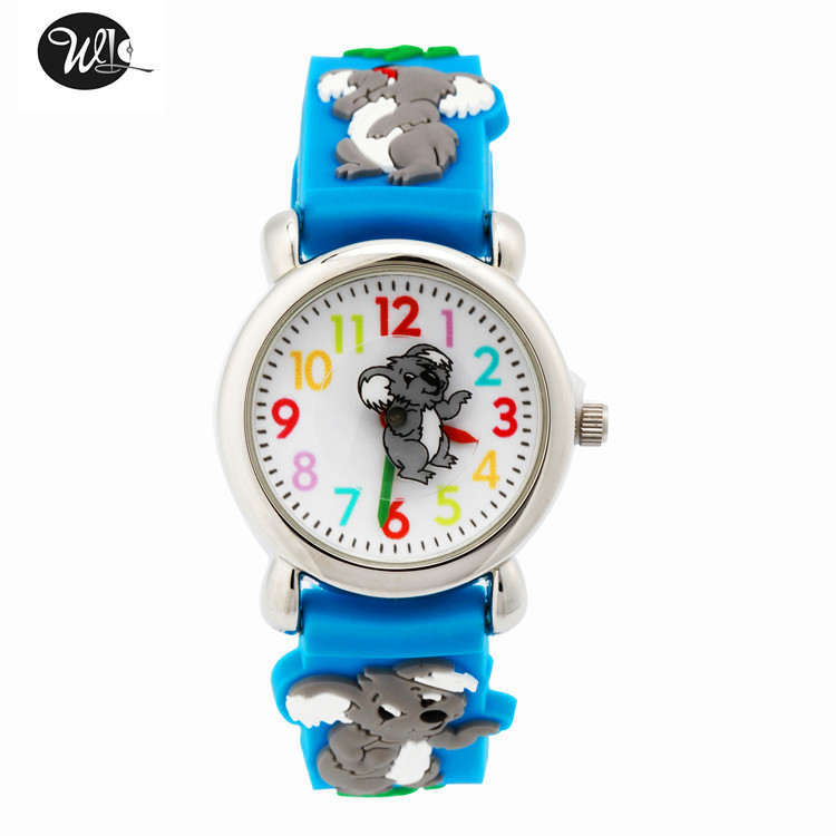 Children's Watch 3D Strap Cartoon Boy Girl Koala Quartz Watch Pointer Electronic Waterproof Watch Child Gift Watch