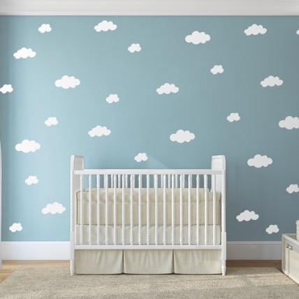 € 19.69 5% de réduction|Nuages Sticker mural bébé pépinière nuage Stickers  muraux bricolage enfants décors muraux facile Stickers muraux ...