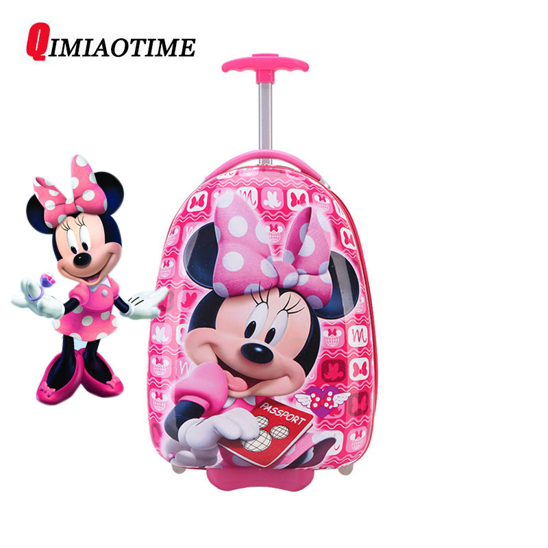 New Girl 16 Inch Cartoon Childrens Rolling Suitcase Childrens Suitcase Boy Princess Mickey ABS Trolley Case Boarding BoxNew Girl 16 Inch Cartoon Childrens Rolling Suitcase Childrens Suitcase Boy Princess Mickey ABS Trolley Case Boarding Box