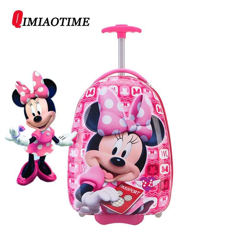 Nouvelle fille 16 pouces Cartoon enfants valise à roulettes enfants valise garçon princesse Mickey ABS boîtier de chariot
