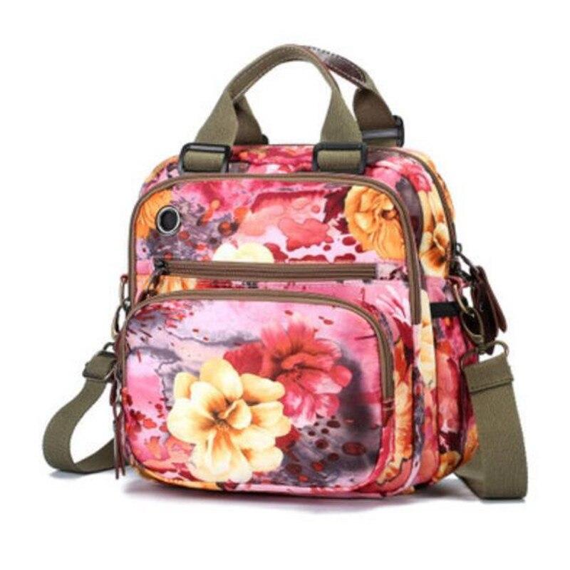 Backpacks Woman 2019 Pink New Multifunction Rose Flowerbackpacks Harajuku Style For Women Waterproof Nylon Backpacks  Mother Bag #2