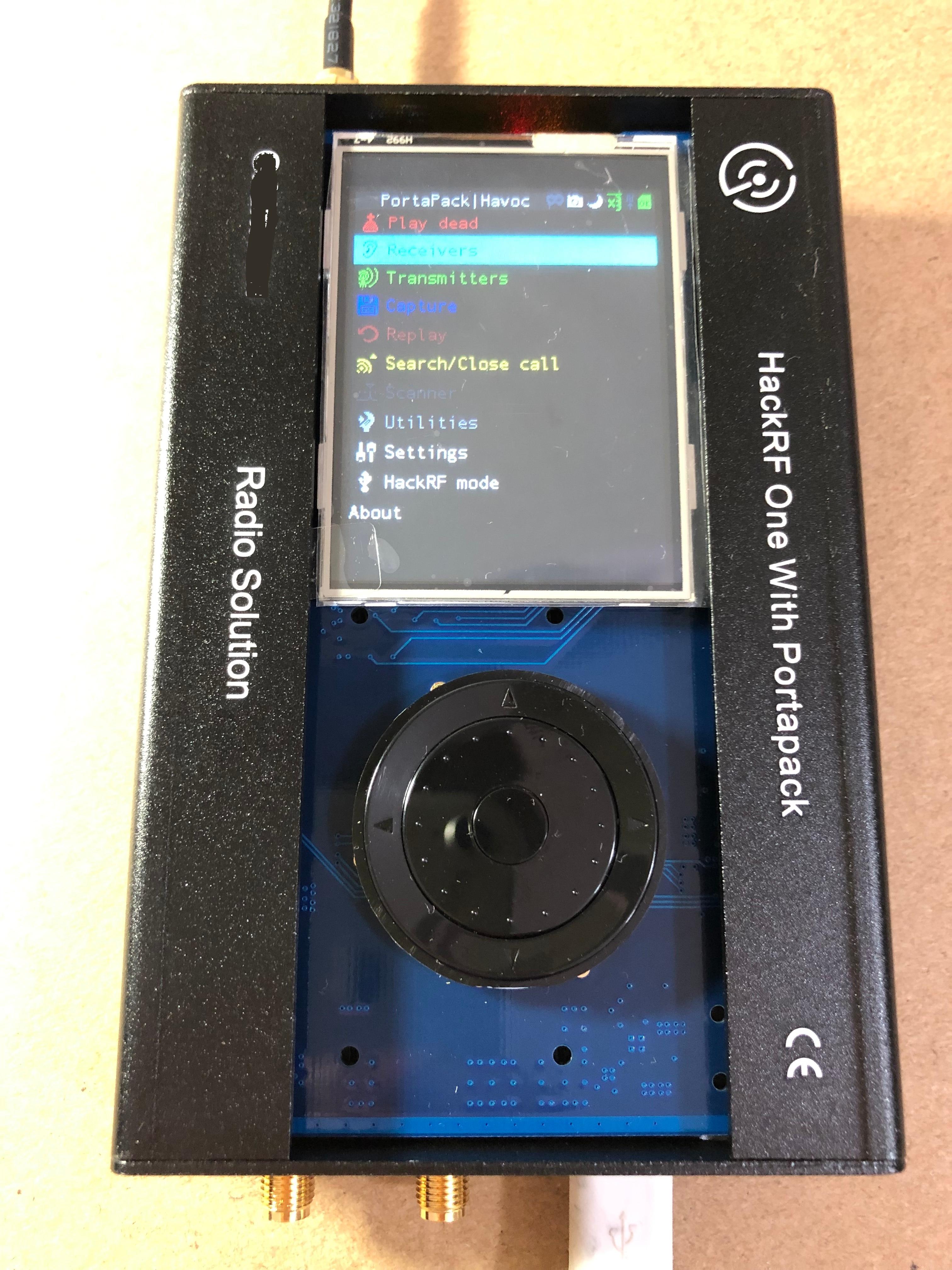 2019 nouvelle version PORTAPACK avec 0.5ppm TCXO horloge boîtier en métal pour HACKRF un SDR logiciel défini radio fonctionnant de-40 ~ 100