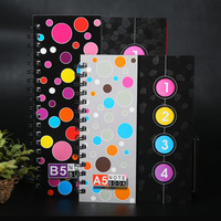 Wholesale Double Coil Bisiness Notebook Creative A6 A5 A4 120 Sheets Spiral School Notebook Diary Office