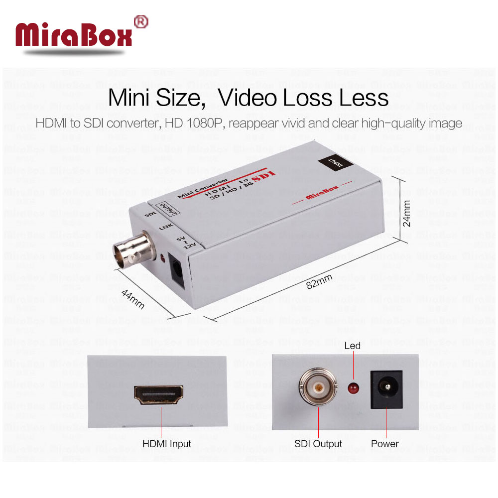 Mini 3G Hdmi To SDI Video Converter Original Factory Support 1080p For Camera HDTV High Quality