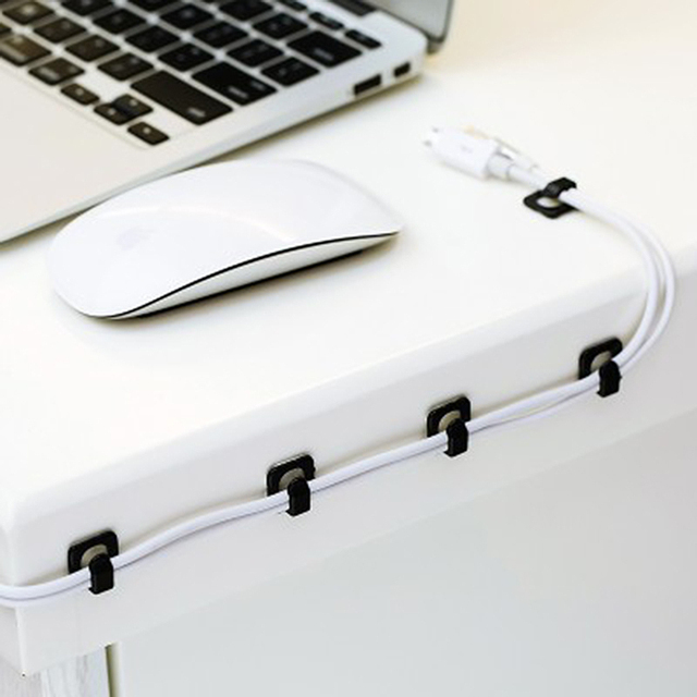 Cable Cords Fixer - Desk Organizer w/ Adhesive Clamp 1