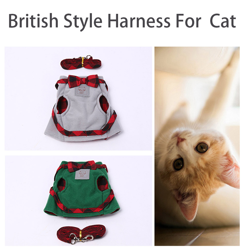 Cat Collars & Leads Nice Adjustable Pet Cat Collar Walking Hand Strap Vest Collar For Small Dogs Outdoor Pet Cats Chest Back Traction Belt
