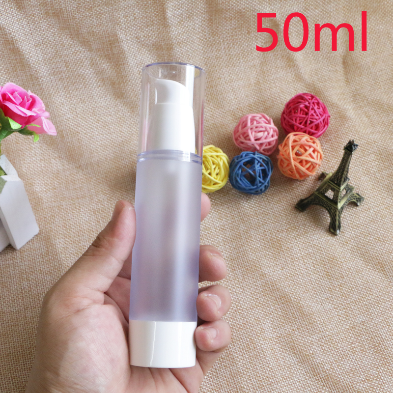 Купить с кэшбэком 15ml 30ml 50ml  Refillable Portable Travel Frosted Shampoo Bottle Makeup BB CC Cream Liquid Empty Cosmetic Containers 10pcs/lot