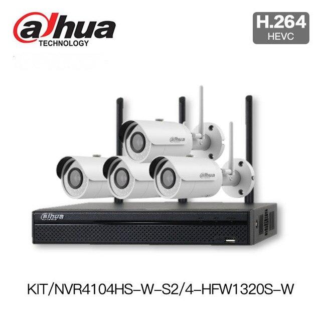 US $468 0 |Dahua 1080P wifi NVR Kit wireless IP Camera Kit NVR4104HS W S2  outdoor wireless Camera IPC HFW1320S W P2P Surveillance System-in