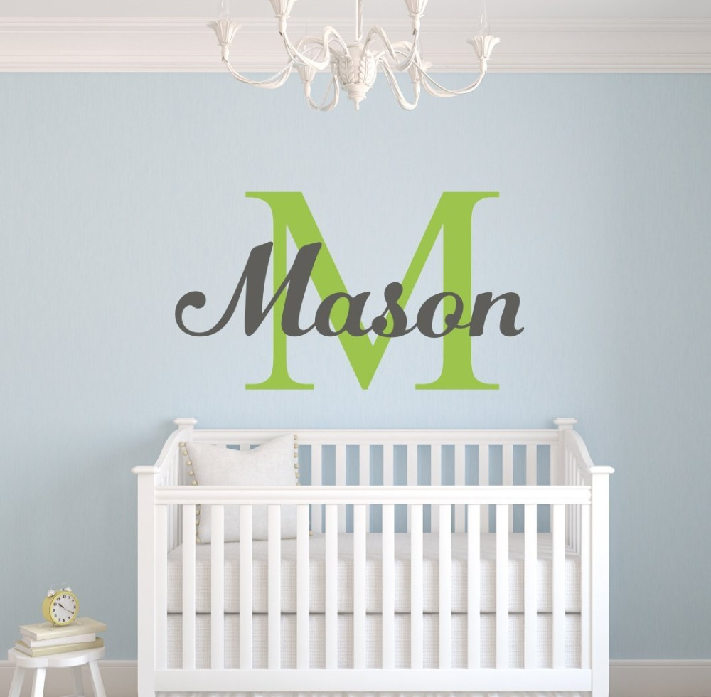 Personalized Name Vinyl Wall Art decal Home decor wall sticker for boy girls room Nursery room wall decor KW-118