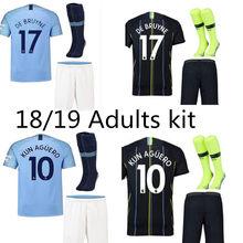352aa6d1c 2019 Manchester city kit shirt STERLING G. JESUS KUN AGUERO DE BRUYNE  KOMPANY SANE 2018