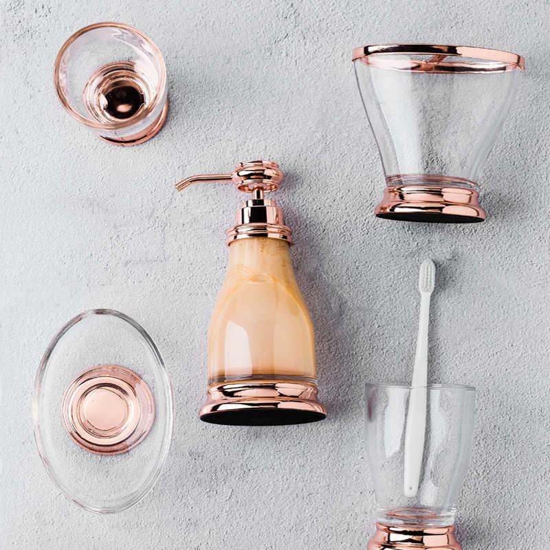 Pięć zestawów ceramicznych garnitur materiały łazienkowe materiały do czyszczenia łazienka dozownik mydła w płynie łazienka akcesoria do domu łazienka apartament typu suite