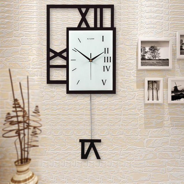 Big Size Swing Pocket Watch Home Living Room Large Wall Clock Study Room  Fashion Decoration Wall