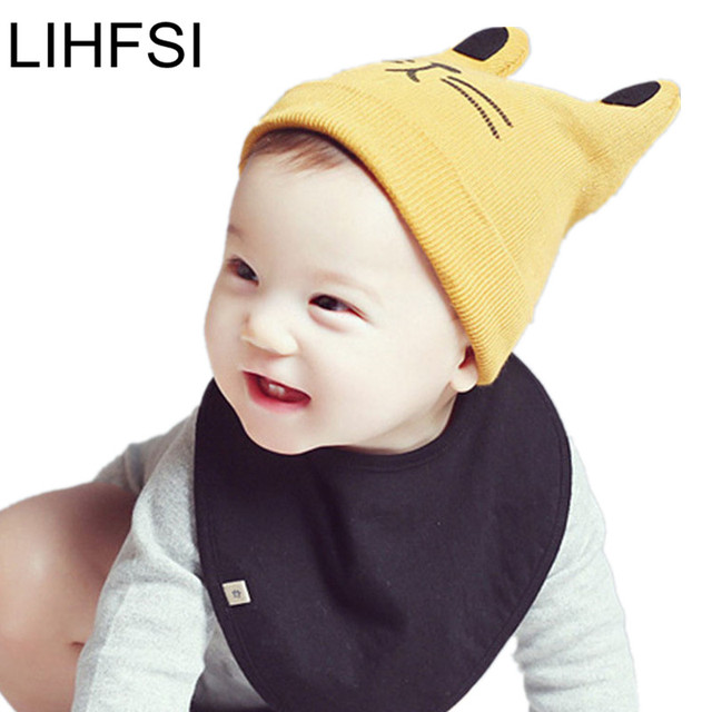 635da4aa364b LIHFSI 2017 Winter Baby Hats Unisex Knitted Wool Caps Children Head ...