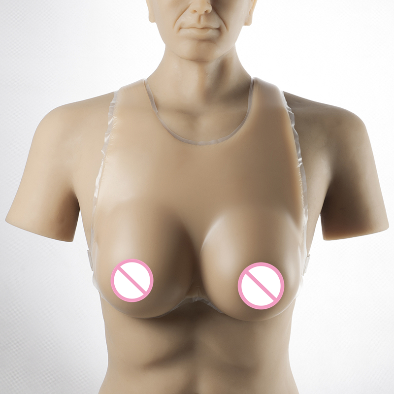 цена на Drag Queen Shemale Fake Boob Enhance 2000g/pair Crossdresser Breasts Strap-On Realistic Silicone Breast Forms For Men