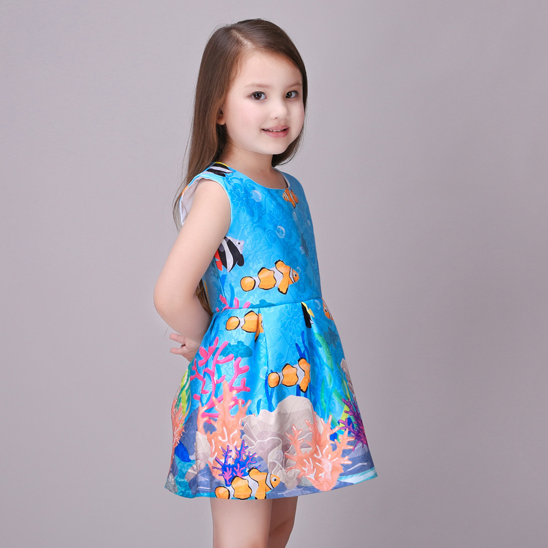 retail 2016 Brand Princess Teenage Girls sleeveless blue Dresses Summer Style Baby Children Clothing 3-8T Kids party Clothes h6 motorcycle motor hid xenon kit bi motorcycle hid headlight bulbs universal motorbike hid light ballast lamp 12v auto