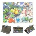 """Nueva caja del juego caliente de 7 """"Pokemons Ir PU Funda de Cuero de 7 pulgadas Universal Tablet caso lindo monsters bebé digital pikachus patrón"""