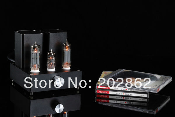 (miniwatt N3)HIFI Audio EL84+12AX7B Black Small APPJ Tube Amplifier appj pa0901a tube amp miniwatt n3 el84 12ax7 hifi exquis desktop pc amplifier