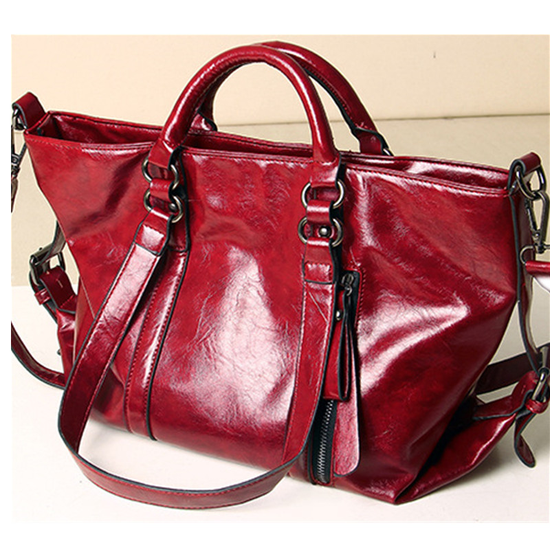 ФОТО Fashion Women Real PU Leather Casual Women Handbag Large Shoulder Bags Elegant Ladies Tote Purse Bolso 2016