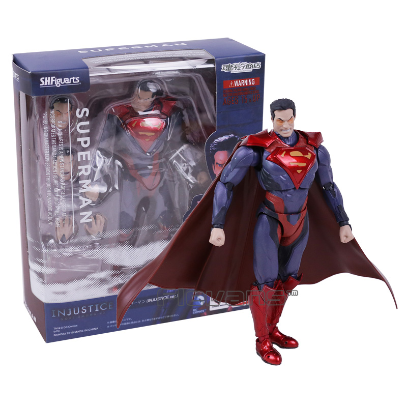SHF Figuarts Superman IN JUSTICE ver PVC Action Figure Collectible Model Toy shfiguarts batman injustice ver pvc action figure collectible model toy 16cm kt1840