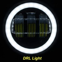 2pcs 4 Round Led Fog Lamps Led Headlights With Angel Eyes Halo Ring DRL For