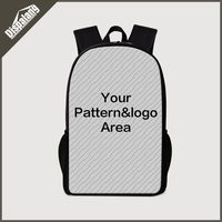 Fashion School Bags Personalized Customized Bags 3D Printing Laptop Backpacks Men S Travel Bagpack Mochilas Bookbags