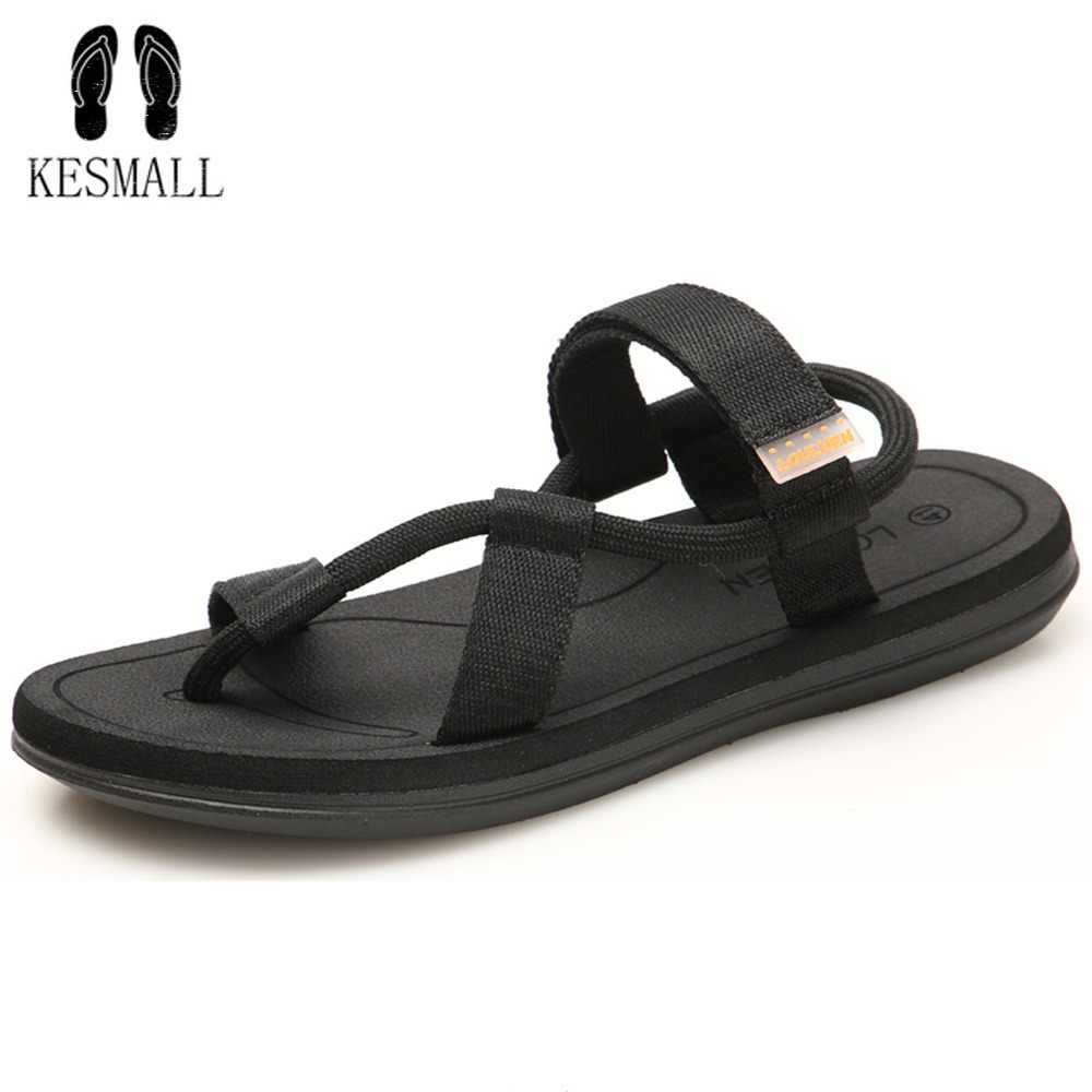 fcdb4d5f47ae6 KESMALL Shoes Men Cross Strap Summer Casual Beach Sandals Lovers  Summer  Shoes Breathable Non-