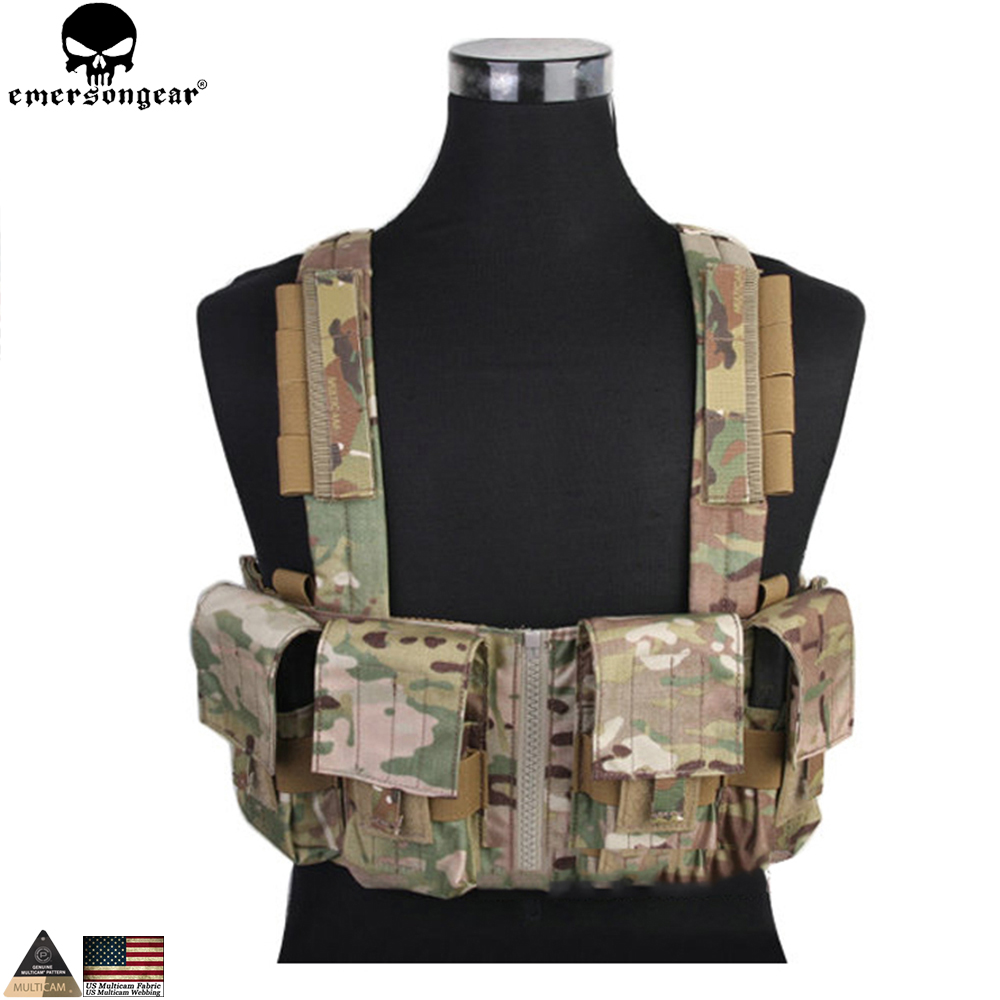 EMERSONGEAR LBT1961K Tactical Chest Rig Molle Vest with 7 62 Magazine Pouch Military Hunting Vest Multicam