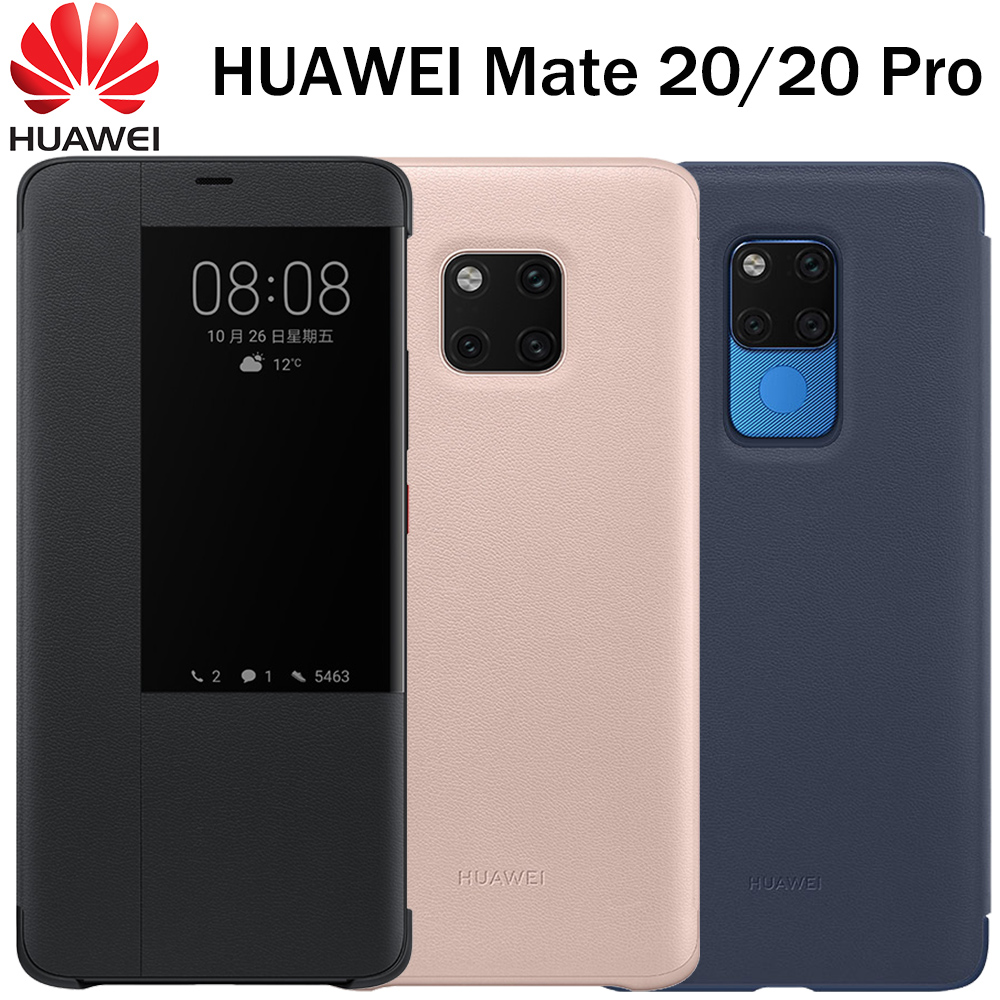 Image 4 - Huawei Mate 20 Pro Flip Case Cover Original Huawei Mate 20 case Smart Touch clear View Leather phone Case mate20 funda capa bag-in Flip Cases from Cellphones & Telecommunications