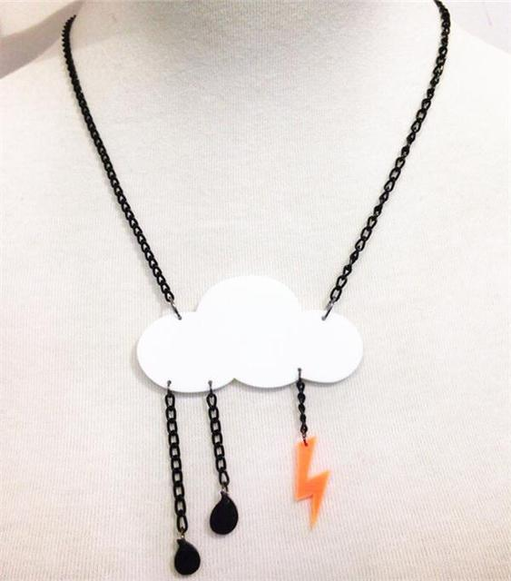 Acrylic cloud necklace laser cut acrylic pendant white acrylic cloud acrylic cloud necklace laser cut acrylic pendant white acrylic cloud charm necklace perspex jewelry 12 pcs aloadofball Gallery