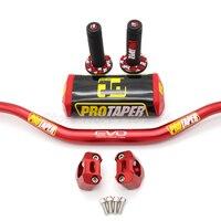Handlebar PRO Taper Pack Fat Bar 1 1/8 Dirt Pit Bike Motocross Motorcycle Handlebar 810mm length 28mm PRO aluminum