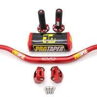 "Manillar PRO Taper paquete gordo Bar 1-1/8 ""suciedad Pit bicicleta Motocross manillar de la motocicleta 810mm longitud 28 PRO de aluminio"