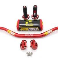 """Manubrio Pro Taper Pacchetto Fat Bar 1-1/8 """"Dirt Pit Bike Motocross Del Motociclo Manubrio 810 Millimetri di Lunghezza 28mm Pro in Alluminio"""