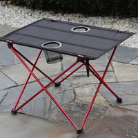 Portable Outdoor Comping Folding Tables with Pouch oxford cloth Black Foldable Picnic Barbecue Desk Folding Table Furniture