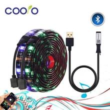 Podświetlenie TV listwy RGB LED 5050 wodoodporna USB 5V taśma LED String oświetlenie z APP kontroler Bluetooth dla TV Monitor do komputera wystrój