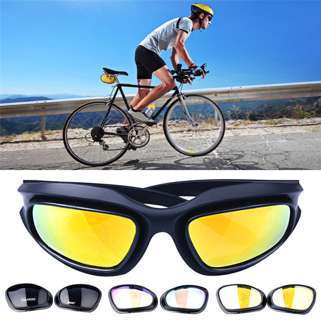 184904d6ac8 4 Lens Outdoor Sports Hunting Military Sunglasses Army Goggles Desert Storm  Anti UVA UVB War Game Bicycle Motorcycle Glasse