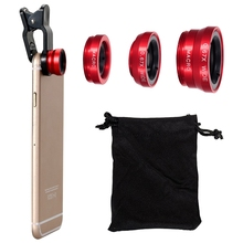 180 Degree Fish Eye Lens + Wide Angle + Macro Lens Kit for iPhone 4, 4S, 5, 5S, 5C, 6, 6 Plus, Samsung GALAXY, S2, S4, Note2, цена