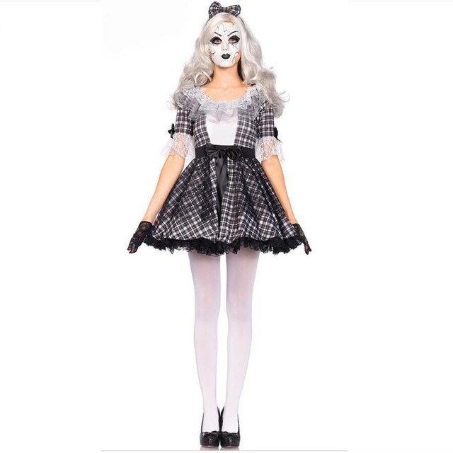 Circus Cute Clown Costume Cosplay For Woman Festive Demon Cosplay Woman's Clothes Beautiful One-piece And Headdress For Choose