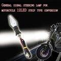 4 pçs/lote 12 V Universal À Prova D' Água Da Motocicleta Turn Signal Indicator Blinker Luz Âmbar Cor 12 LED SMD Lâmpada de Flash Bicicleta