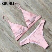 RUUHEE Swimwear Women Bikini 2017 Swimsuit Bathing Suit Sexy Strap Summer Beachwear Bikini Set Maillot De