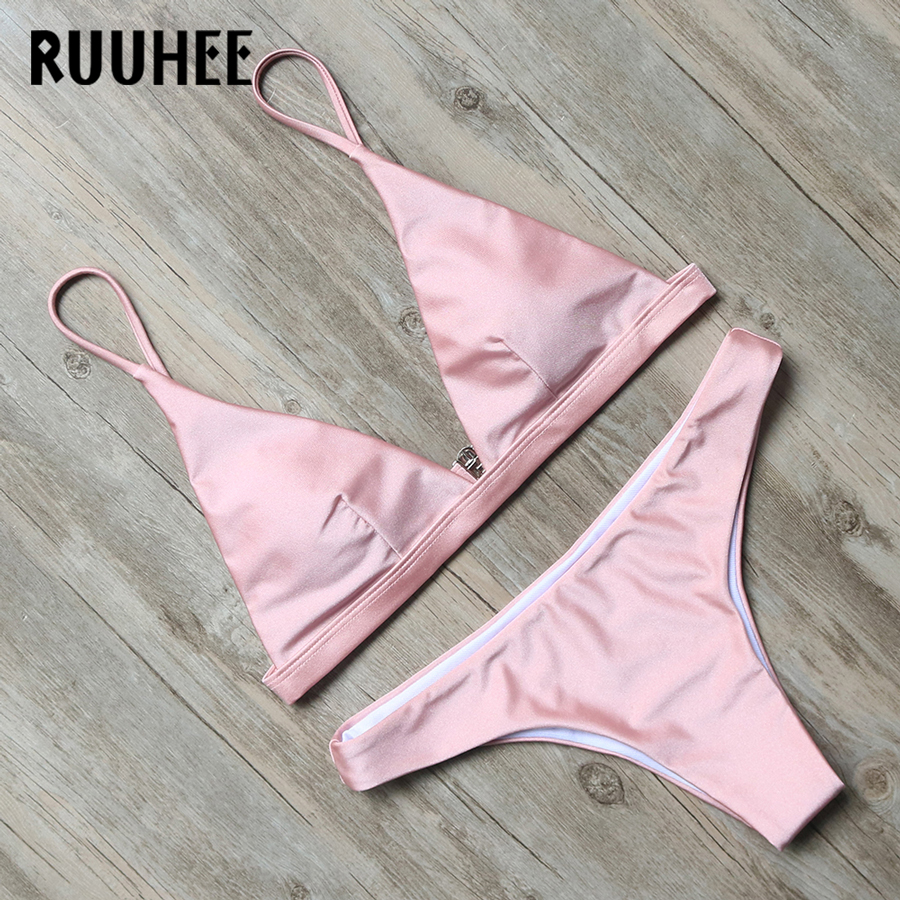 RUUHEE Swimwear Women Bikini 2017 Swimsuit Bathing Suit Brazilian Beachwear Push Up Bikini Set Maillot De Bain Biquini Swim Wear 2018 sexy brazilian bikini set swimwear white women swimsuit bathing suit cami palm leaf print biquini swim suit maillot de bain