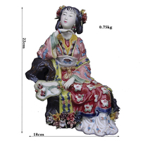Free Shipping Ceramic Female Figure Statue Marvel Chinese Antique Imitation Figurine Collectibles Christmas Decorative Sculpture