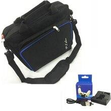 Путешествия хранения carry защитная сумка сумочка + мини путешествия зарядка для док-станции подставка для ps4 sony playstatio 4