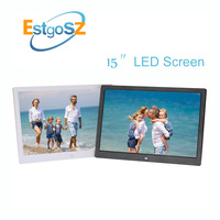 EstgoSZ 15 Inch LED Screen Digital Photo Frame 1280*800 Supports Music Photo Movie Play Multi Function Family Electronic Frame